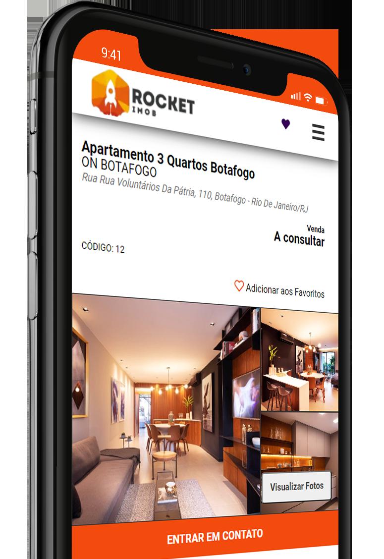 Site para Imobiliária é com a Rocket Imob
